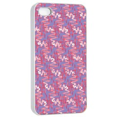 Pattern Abstract Squiggles Gliftex Apple iPhone 4/4s Seamless Case (White)