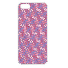 Pattern Abstract Squiggles Gliftex Apple iPhone 5 Seamless Case (White)