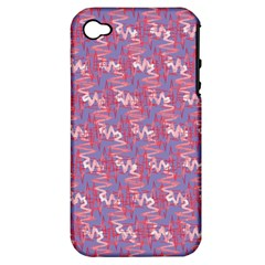 Pattern Abstract Squiggles Gliftex Apple Iphone 4/4s Hardshell Case (pc+silicone)