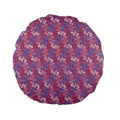 Pattern Abstract Squiggles Gliftex Standard 15  Premium Round Cushions