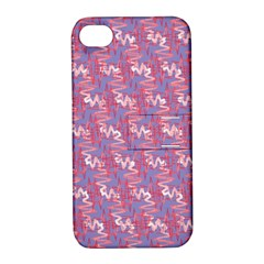 Pattern Abstract Squiggles Gliftex Apple Iphone 4/4s Hardshell Case With Stand