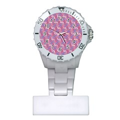Pattern Abstract Squiggles Gliftex Plastic Nurses Watch