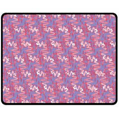 Pattern Abstract Squiggles Gliftex Double Sided Fleece Blanket (medium)