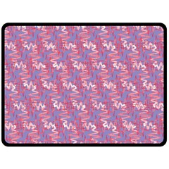 Pattern Abstract Squiggles Gliftex Double Sided Fleece Blanket (Large)