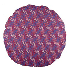 Pattern Abstract Squiggles Gliftex Large 18  Premium Flano Round Cushions