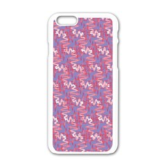 Pattern Abstract Squiggles Gliftex Apple iPhone 6/6S White Enamel Case