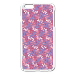 Pattern Abstract Squiggles Gliftex Apple Iphone 6 Plus/6s Plus Enamel White Case