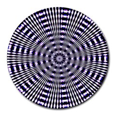 Pattern Stripes Background Round Mousepads
