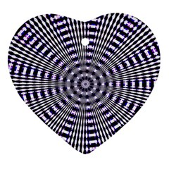 Pattern Stripes Background Ornament (heart)