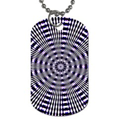 Pattern Stripes Background Dog Tag (Two Sides)
