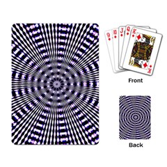 Pattern Stripes Background Playing Card