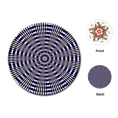 Pattern Stripes Background Playing Cards (round)
