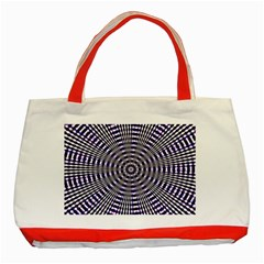 Pattern Stripes Background Classic Tote Bag (Red)