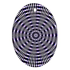 Pattern Stripes Background Oval Ornament (Two Sides)