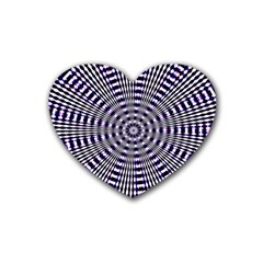 Pattern Stripes Background Rubber Coaster (Heart)