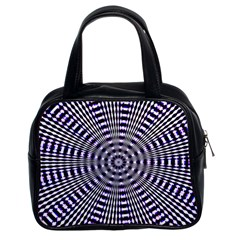 Pattern Stripes Background Classic Handbags (2 Sides)