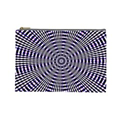 Pattern Stripes Background Cosmetic Bag (large)