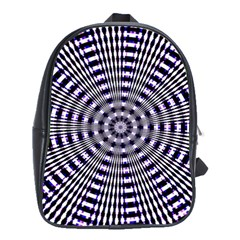 Pattern Stripes Background School Bags(Large)