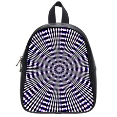 Pattern Stripes Background School Bags (small)