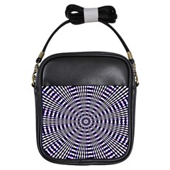 Pattern Stripes Background Girls Sling Bags