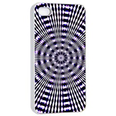 Pattern Stripes Background Apple Iphone 4/4s Seamless Case (white)