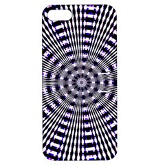 Pattern Stripes Background Apple iPhone 5 Hardshell Case with Stand