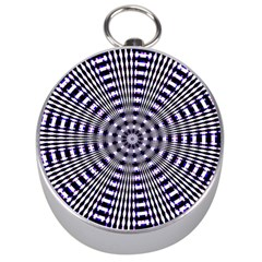 Pattern Stripes Background Silver Compasses