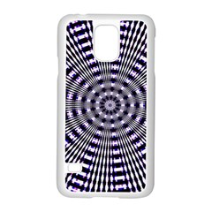 Pattern Stripes Background Samsung Galaxy S5 Case (White)