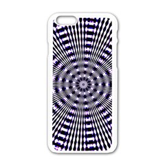 Pattern Stripes Background Apple iPhone 6/6S White Enamel Case