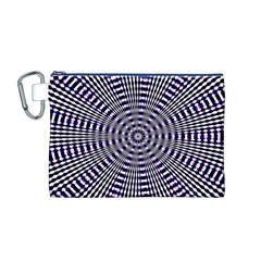 Pattern Stripes Background Canvas Cosmetic Bag (M)