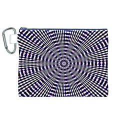 Pattern Stripes Background Canvas Cosmetic Bag (XL)