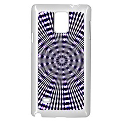 Pattern Stripes Background Samsung Galaxy Note 4 Case (White)