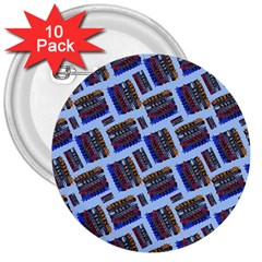 Abstract Pattern Seamless Artwork 3  Buttons (10 Pack)