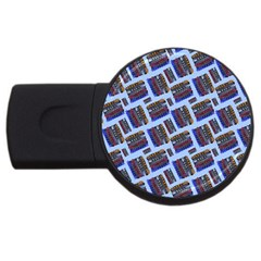 Abstract Pattern Seamless Artwork USB Flash Drive Round (2 GB)
