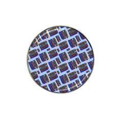 Abstract Pattern Seamless Artwork Hat Clip Ball Marker (4 Pack)