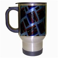 Abstract Pattern Seamless Artwork Travel Mug (silver Gray)
