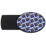 Abstract Pattern Seamless Artwork USB Flash Drive Oval (4 GB) Front