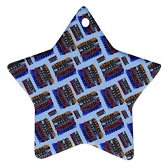 Abstract Pattern Seamless Artwork Star Ornament (two Sides)