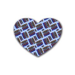 Abstract Pattern Seamless Artwork Rubber Coaster (Heart)