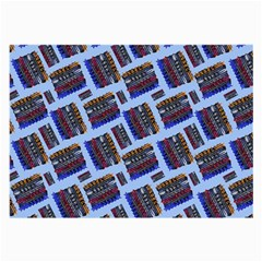 Abstract Pattern Seamless Artwork Large Glasses Cloth (2 Side)