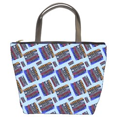 Abstract Pattern Seamless Artwork Bucket Bags