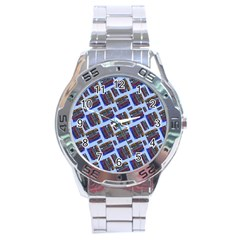 Abstract Pattern Seamless Artwork Stainless Steel Analogue Watch