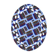 Abstract Pattern Seamless Artwork Oval Filigree Ornament (two Sides)