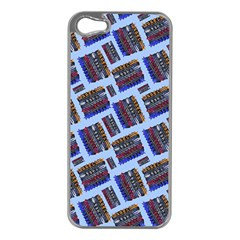 Abstract Pattern Seamless Artwork Apple Iphone 5 Case (silver)