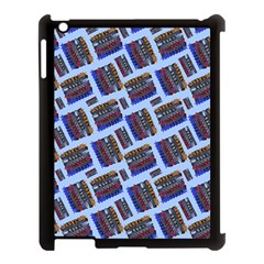 Abstract Pattern Seamless Artwork Apple iPad 3/4 Case (Black)