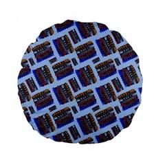 Abstract Pattern Seamless Artwork Standard 15  Premium Round Cushions