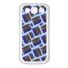 Abstract Pattern Seamless Artwork Samsung Galaxy S3 Back Case (White)