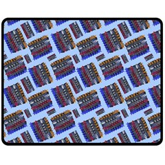 Abstract Pattern Seamless Artwork Double Sided Fleece Blanket (medium)