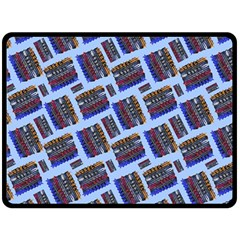 Abstract Pattern Seamless Artwork Double Sided Fleece Blanket (large)