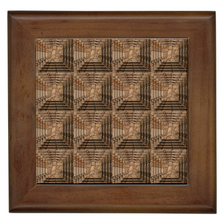 Collage Stone Wall Texture Framed Tiles